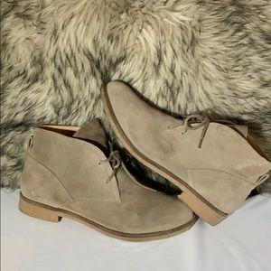 Lucky Brand Ankle Boots Tan Leather Upper SZ 9.5M